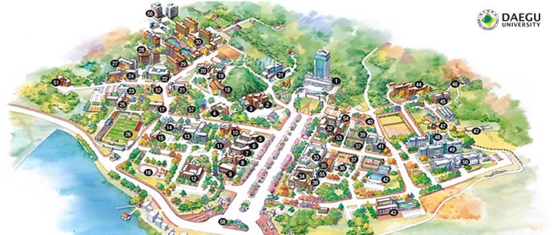 DAEGU UNIVERSITY - ABOUT DU - Campus Map - Campus Map on